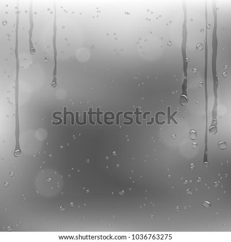rainy window and dark gray