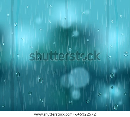 rainy window  water drops and