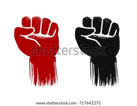 raised fist  grunge force