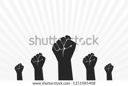 raised fist hand protest in