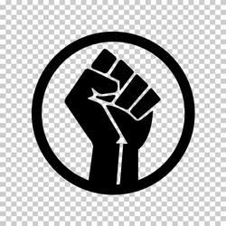 Raised Fist power revolution sign