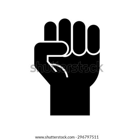 raised fist symbol   clenched