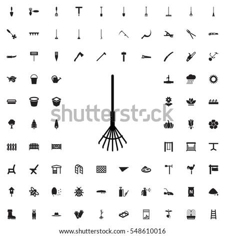 rake icon illustration isolated