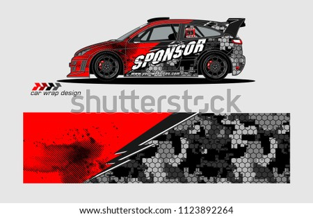 rally car decal design vector. abstract background for vehicle vinyl wrap