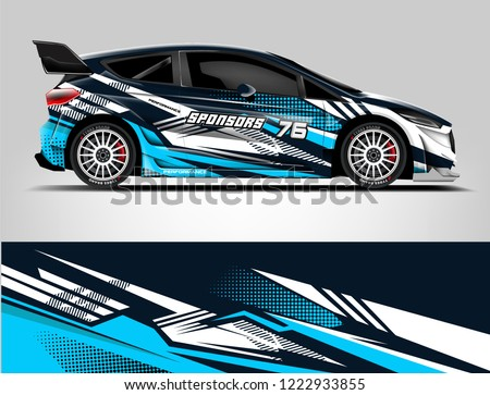 Rally car wrap. abstract strip for Racing hatchback car wrap, sticker, and decal. vector eps 10 format.