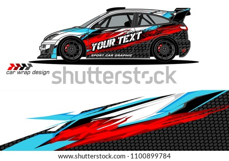 Rally car wrap vector designs. abstract livery for vehicle vinyl branding background  #1100899784