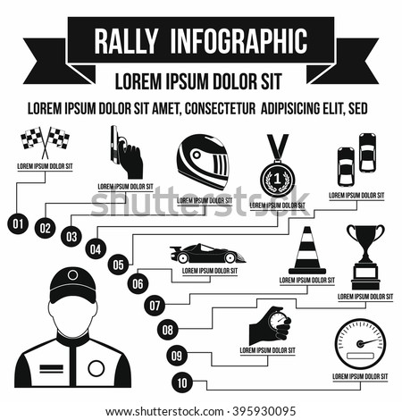 rally infographic  simple style