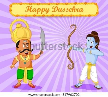 rama killing ravana during