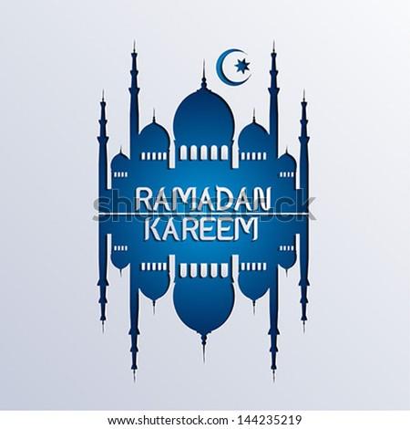 ramadan background paper art style vector