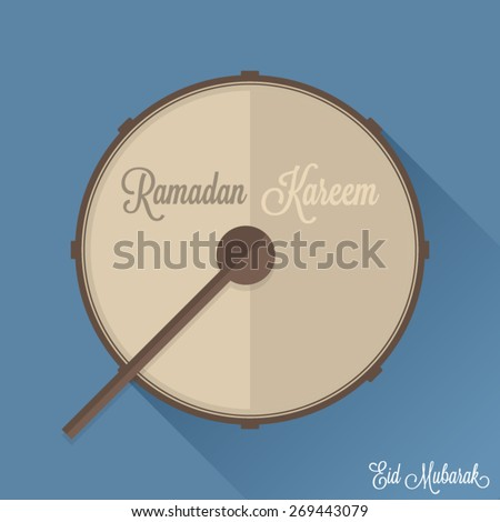 ramadan drum flat design vector