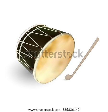 ramadan drum isolated  vector