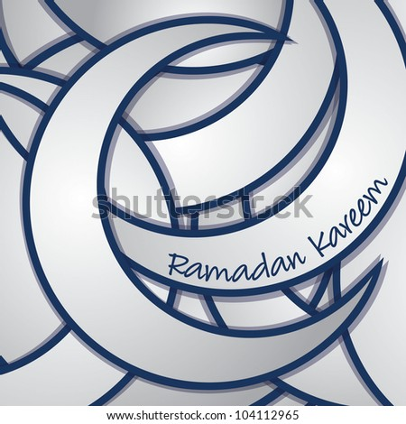 Ramadan Kareem (Generous Ramadan) sticker greeting card in vector format.