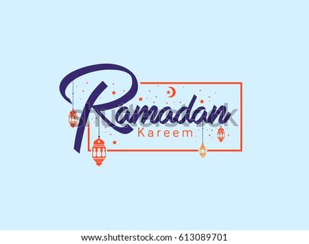 Ramadan kareem background greeting download free vector art stock ramadan kareem greeting card calligraphy with traditional lantern and mosque vector illustration m4hsunfo
