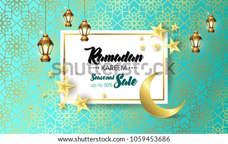 Ramadan Kareem, happy iftar, Ramadan Kareem beautiful greeting card with arabic calligraphy, template for menu, invitation, poster, banner, card for the celebration of Muslim festival, sale.