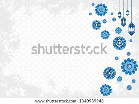 Ramadan kareem islamic illustration. muslims greeting card, invitation,poster, banner, abstract background design template. ramadan theme with shape