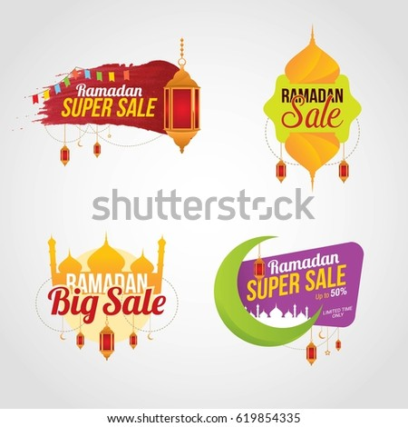 Ramadan Kareem Sale Design Vector. Suitable for Greeting Card, Poster and Banner