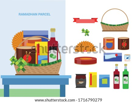 ramadhan parcel with snack inside indonesian brand food and snack