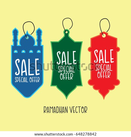 ramadhan sale vector template