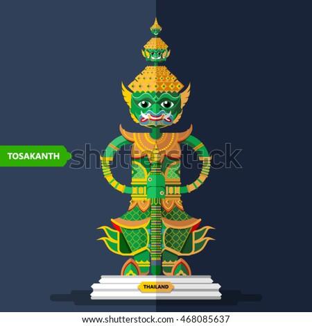 ramayana giant sculptures in