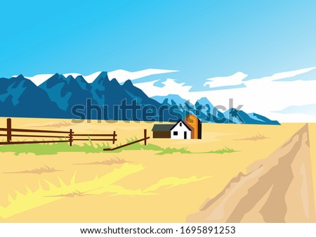ranch with the mountain view