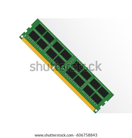 Random Access Memory concept by RAM labtop 4GB or 8GB or 16GB.