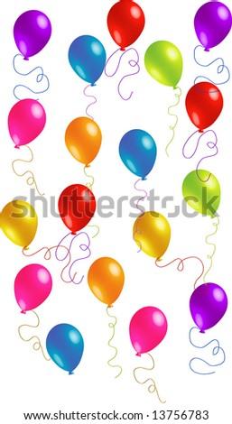Random Beautiful Party Balloons vector