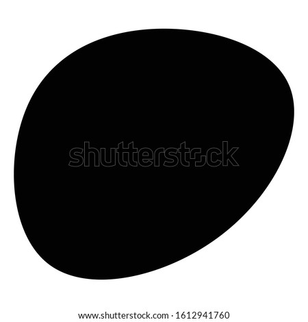 Random blotch, inkblot. Organic blob, blot. Speck shape.Splat, fleck graphic. Drop of liquid, fluid. Pebble, stone silhouette.Ink stain, mottle spot irregular shape. Basic, simple rounded, smooth form