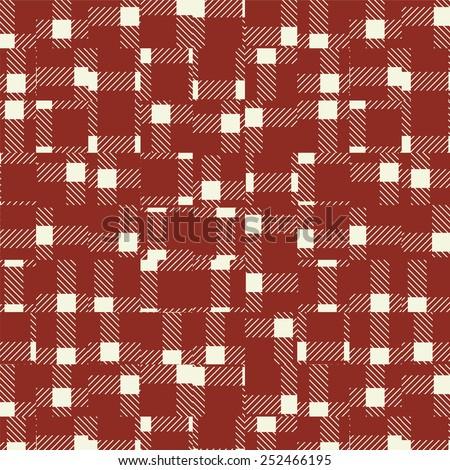 Random broken check pattern background-vintage red. Background image of random broken check pattern-vintage red.