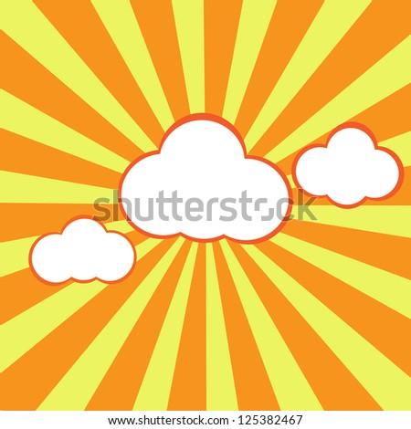 Random Fluffy Clouds and Sunny Sky