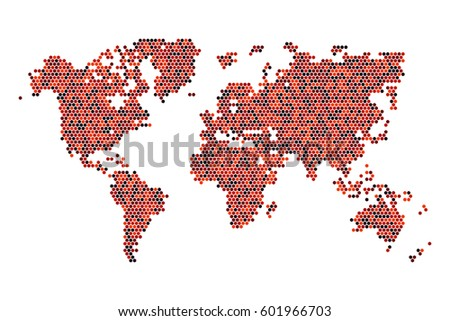 Free vector mosaic world map download free vector art stock random hexagon of world map gumiabroncs Gallery