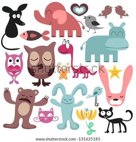 Random set of various funny animals