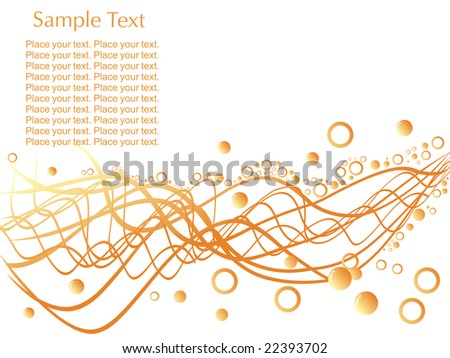 Sample Text Wallpaper Circles And Sample Text on