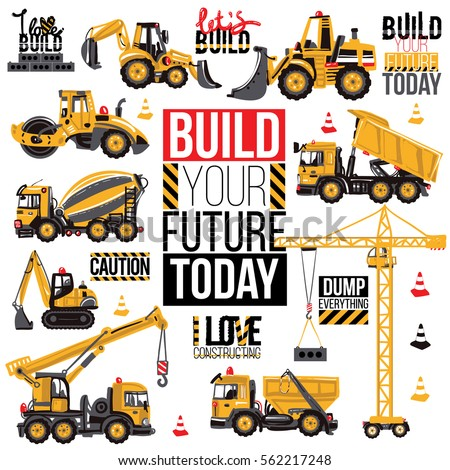 range of construction machinery