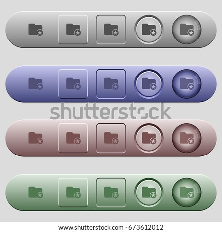 Rank directory icons on rounded horizontal menu bars in different colors and button styles #673612012