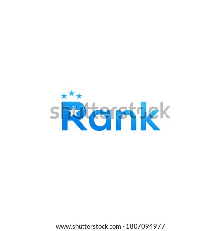 ranking wordmark  logo design illustration Stock fotó ©
