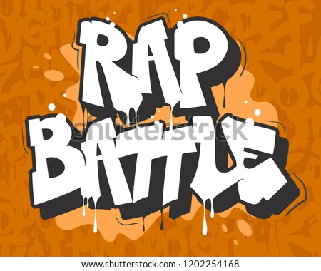 Rap battle vector illustration in graffiti style.