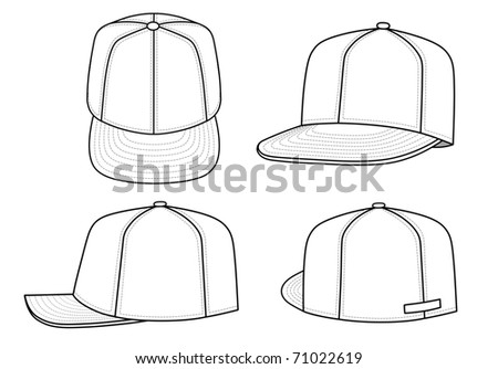 Rap cap (vector) - stock vector