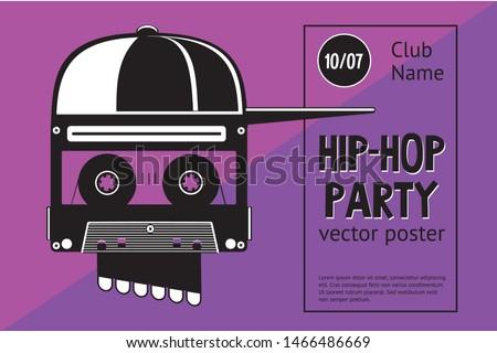 rap festival sign with skull