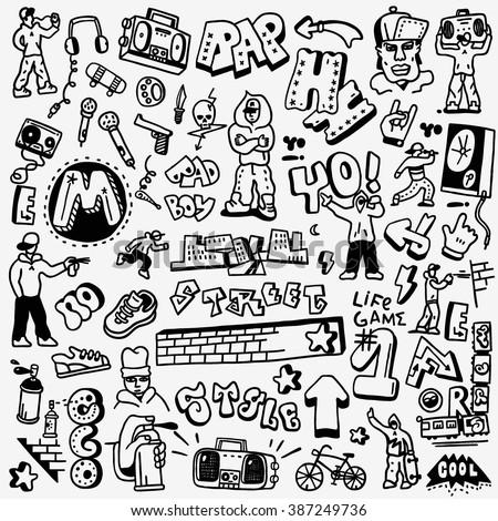 rap  hip hop   graffiti