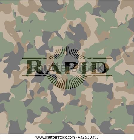 Rapid camouflage emblem