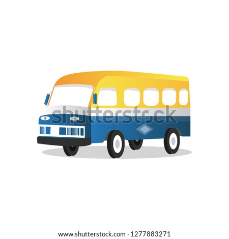 Rapid car - Local mini transport bus in Senegal, car rapid in Dakar (before)