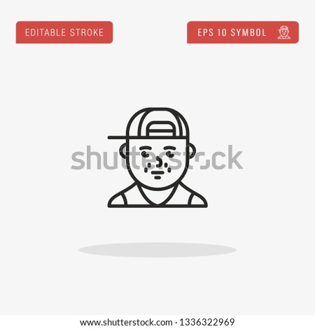 rapper linear vector icon
