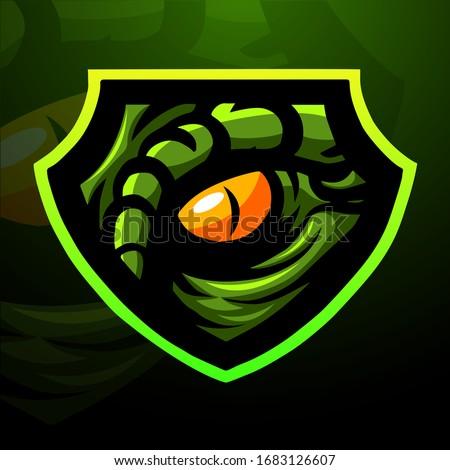 Raptor eye mascot logo design Photo stock ©