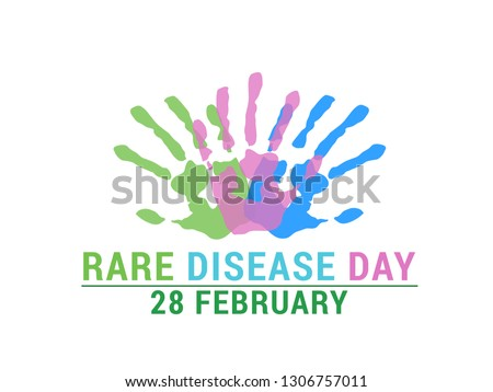 Rare Disease Day Poster or Banner Background.