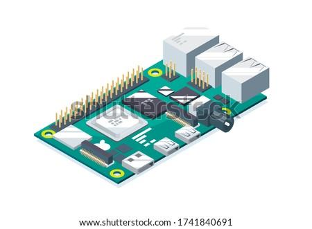 raspberry pi micro computer coding Zdjęcia stock ©