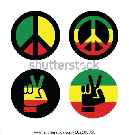 rasta peace  hand gesture