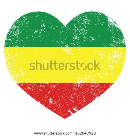 rasta  rastafarian retro heart