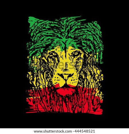 rasta theme with lion head on