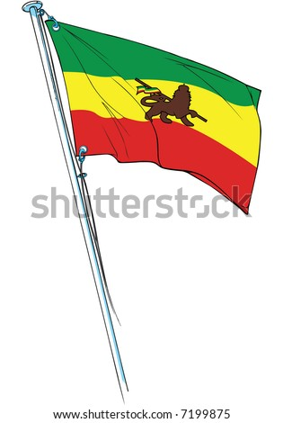 rastafarian flag with the lion