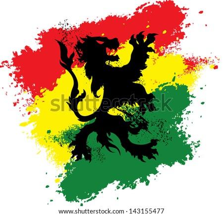 rastafarian lion